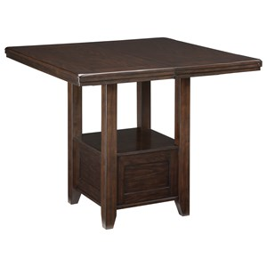 Rectangular Dining Room Extension Table with Shelf