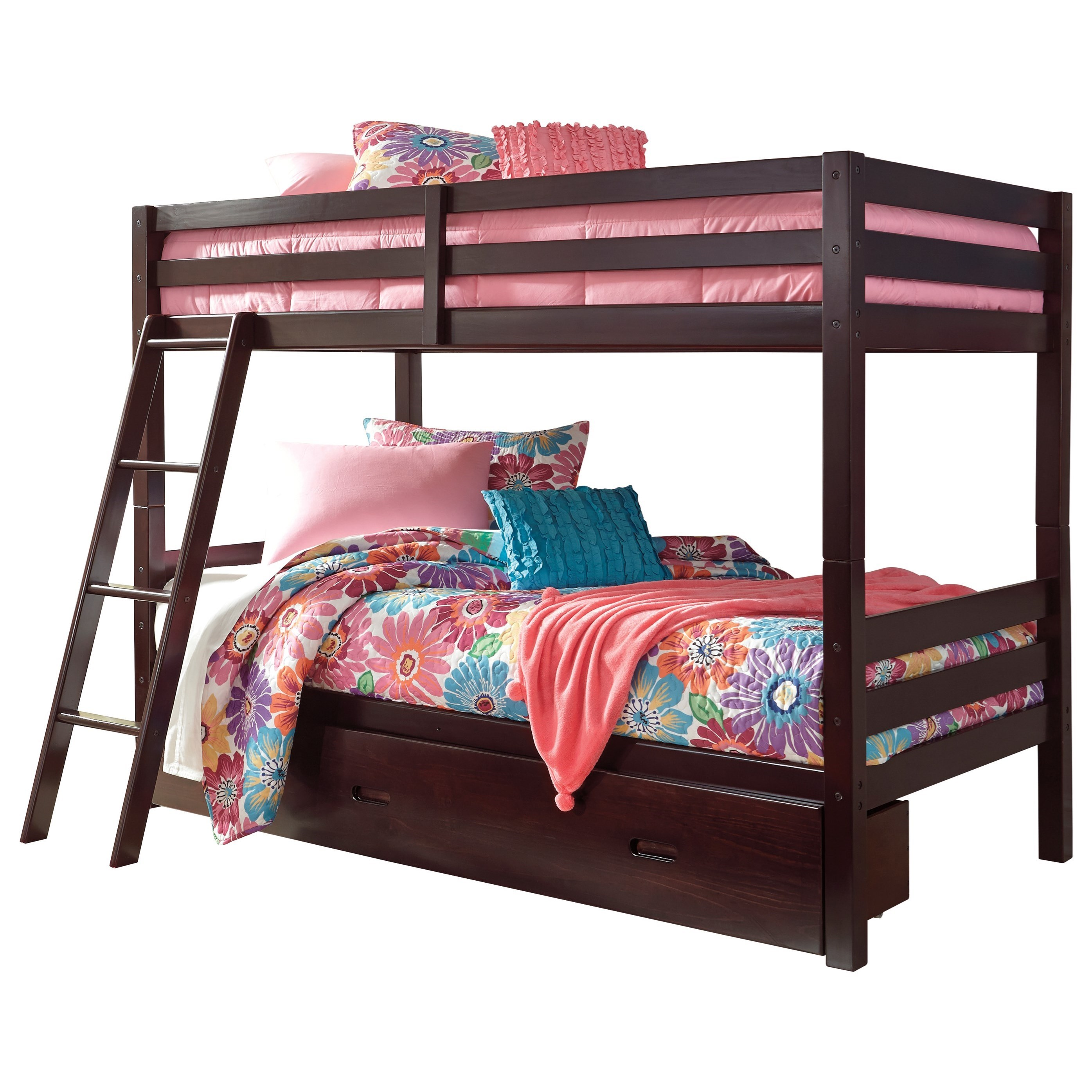 Solid Pine Twin/Twin Bunk Bed w/ Under Bed Storage