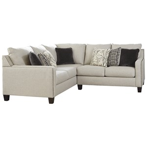 Two Piece Sectional with Nailhead Trim Accents