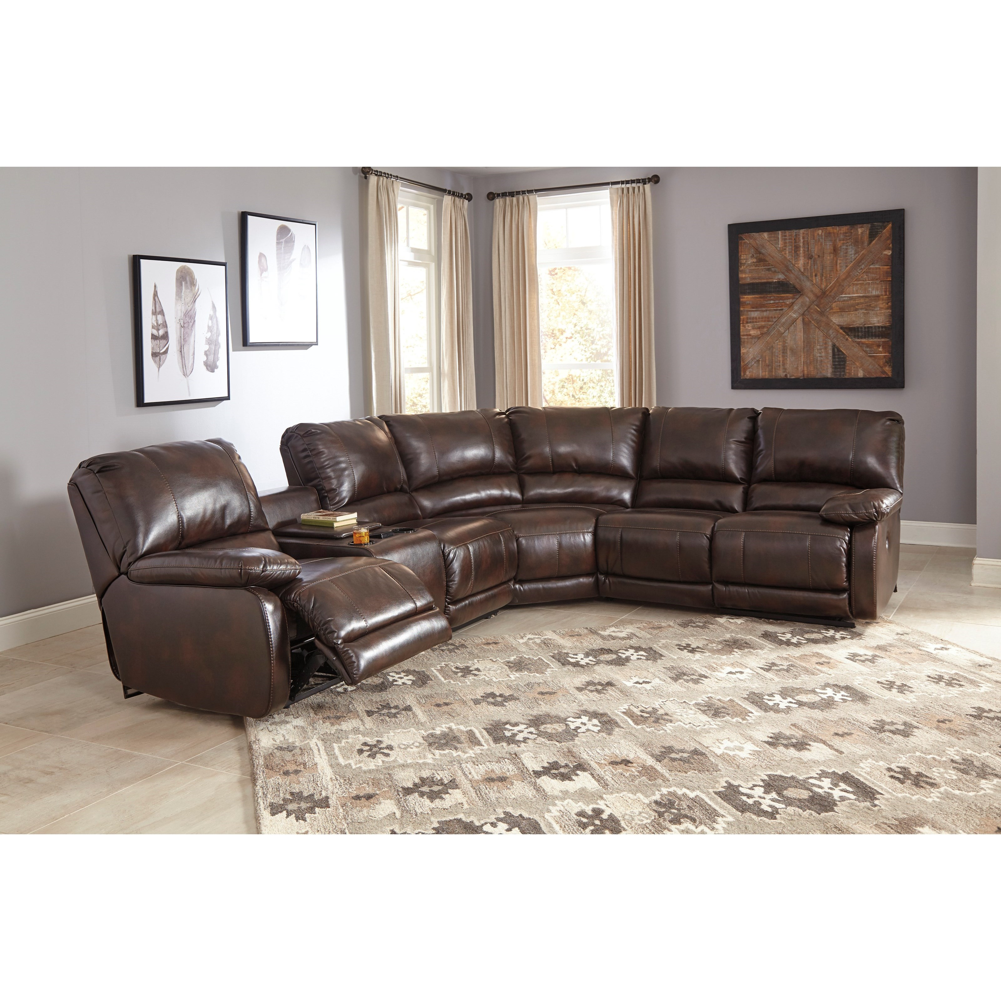 Power Reclining Sectional  sc 1 st  Wolf Furniture & Power Reclining Sectional with Massage Heat and Cup Holder ... islam-shia.org
