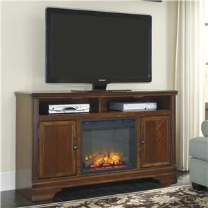 Signature Design by Ashley Hamlyn Large TV Stand with Fireplace Insert
