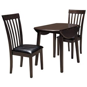 3 Piece Round Drop Leaf Table Set