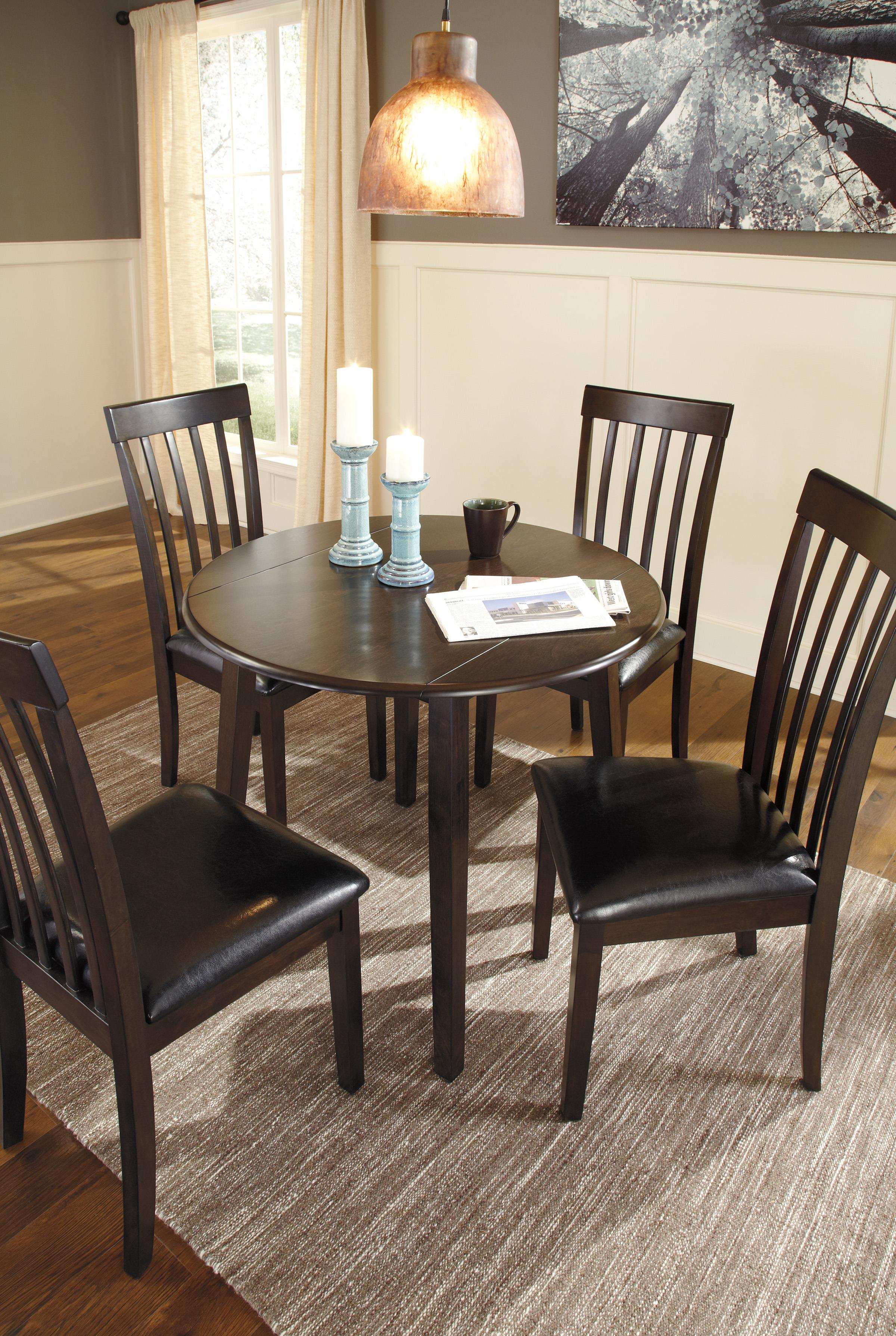 5-Piece Round Drop Leaf Table Set By Signature Design By Ashley