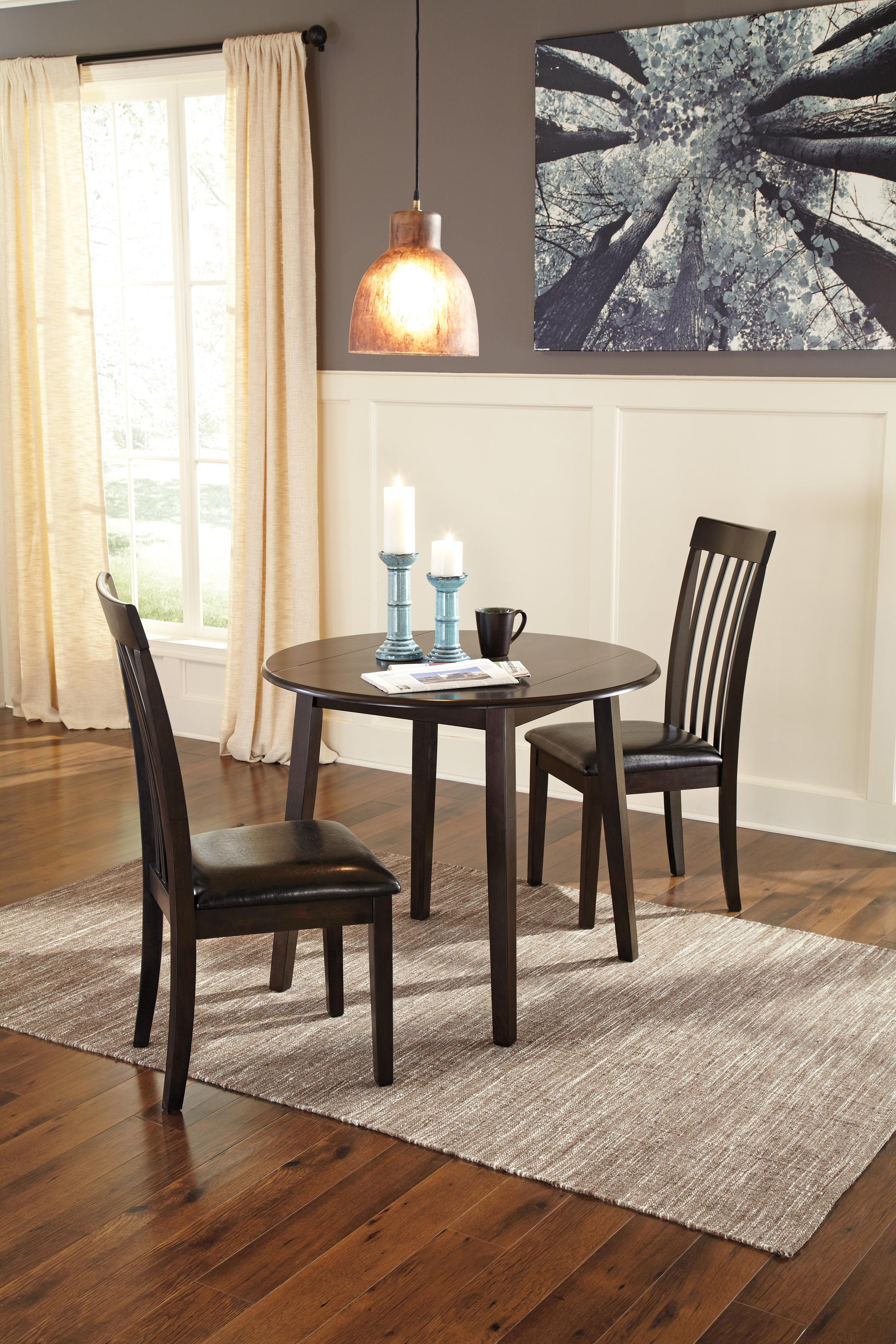 Round Dining Room Drop Leaf Table By Signature Design By