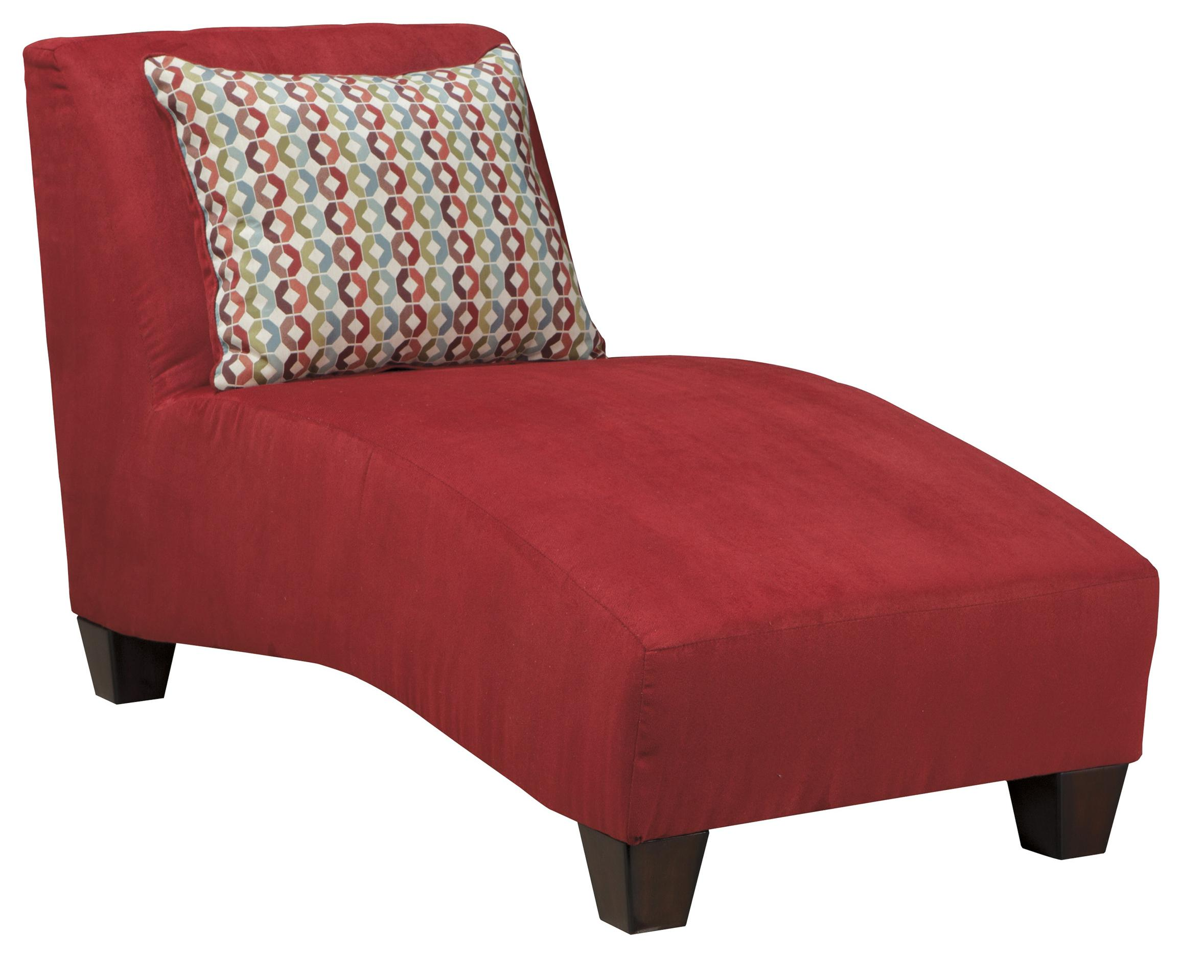 contemporary armless chaise by signature design by ashley  wolf  - contemporary armless chaise