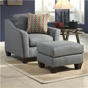 Signature Design by Ashley Furniture Hannin - Lagoon Chair & Ottoman