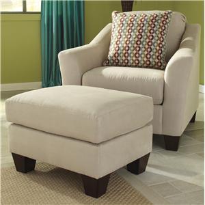 Signature Design by Ashley Furniture Hannin - Stone Chair & Ottoman