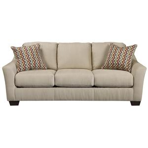 Signature Design by Ashley Hannin - Stone Queen Sofa Sleeper