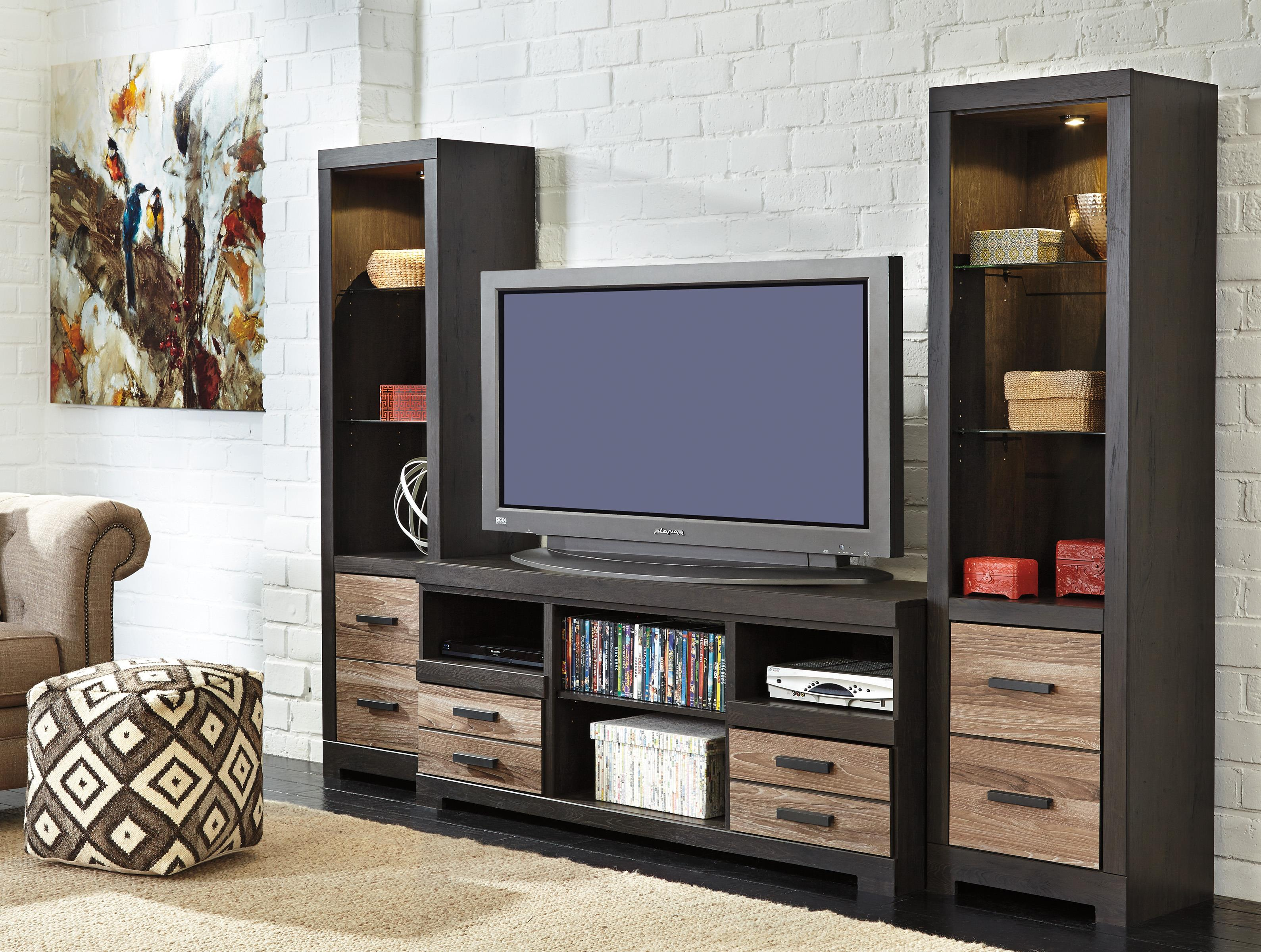 Large TV Stand U0026 2 Tall Piers