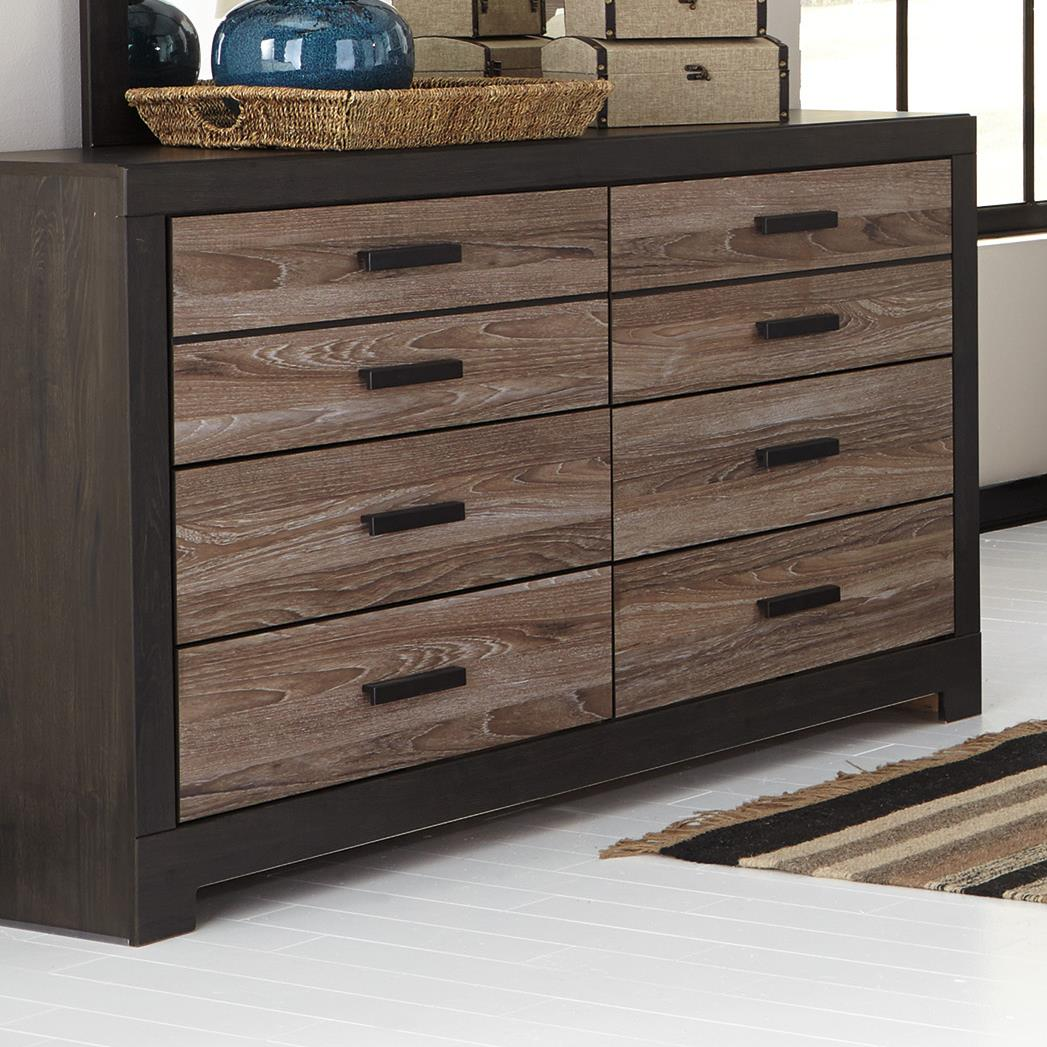 Rustic Two Tone Dresser By Signature Design By Ashley Wolf And