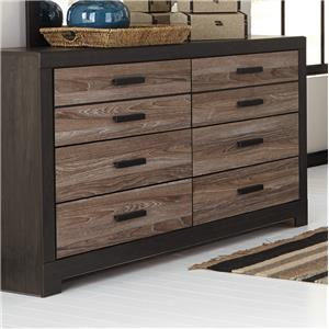 Rustic Two-Tone Dresser