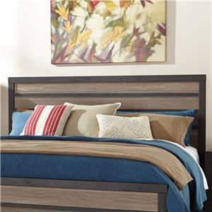 Rustic Queen/Full Panel Headboard with Two-Tone Plank Look
