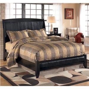 StyleLine HEPBURN Queen Upholstered Platform Style Bed