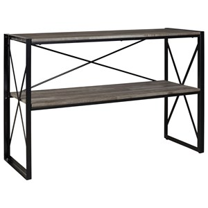 Contemporary Sofa Table with Metal Base