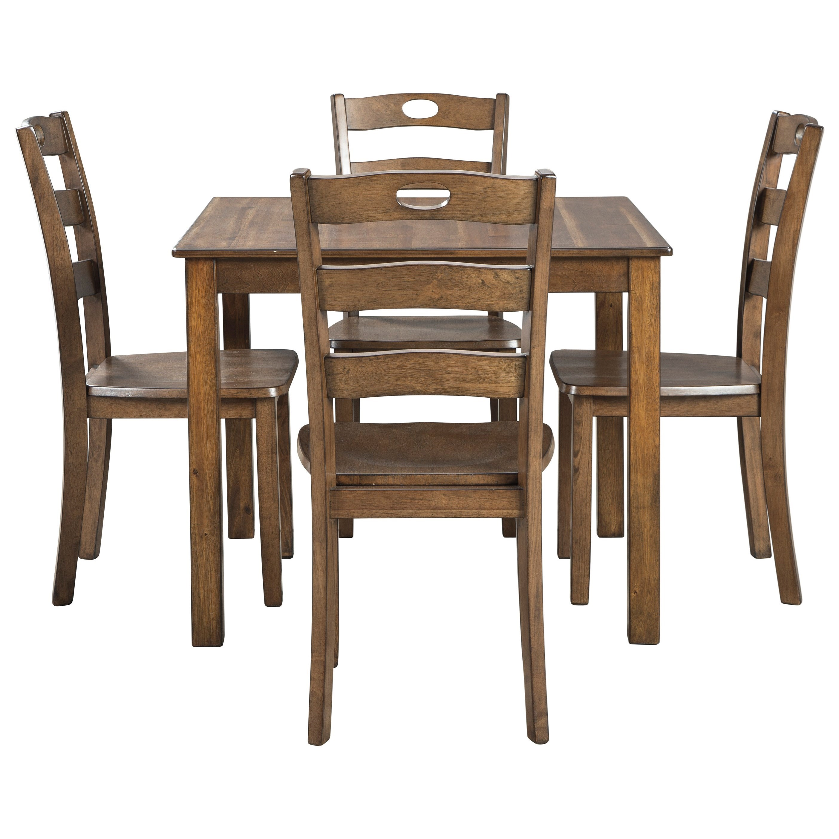 Square Dining Table and Chair Set for Four