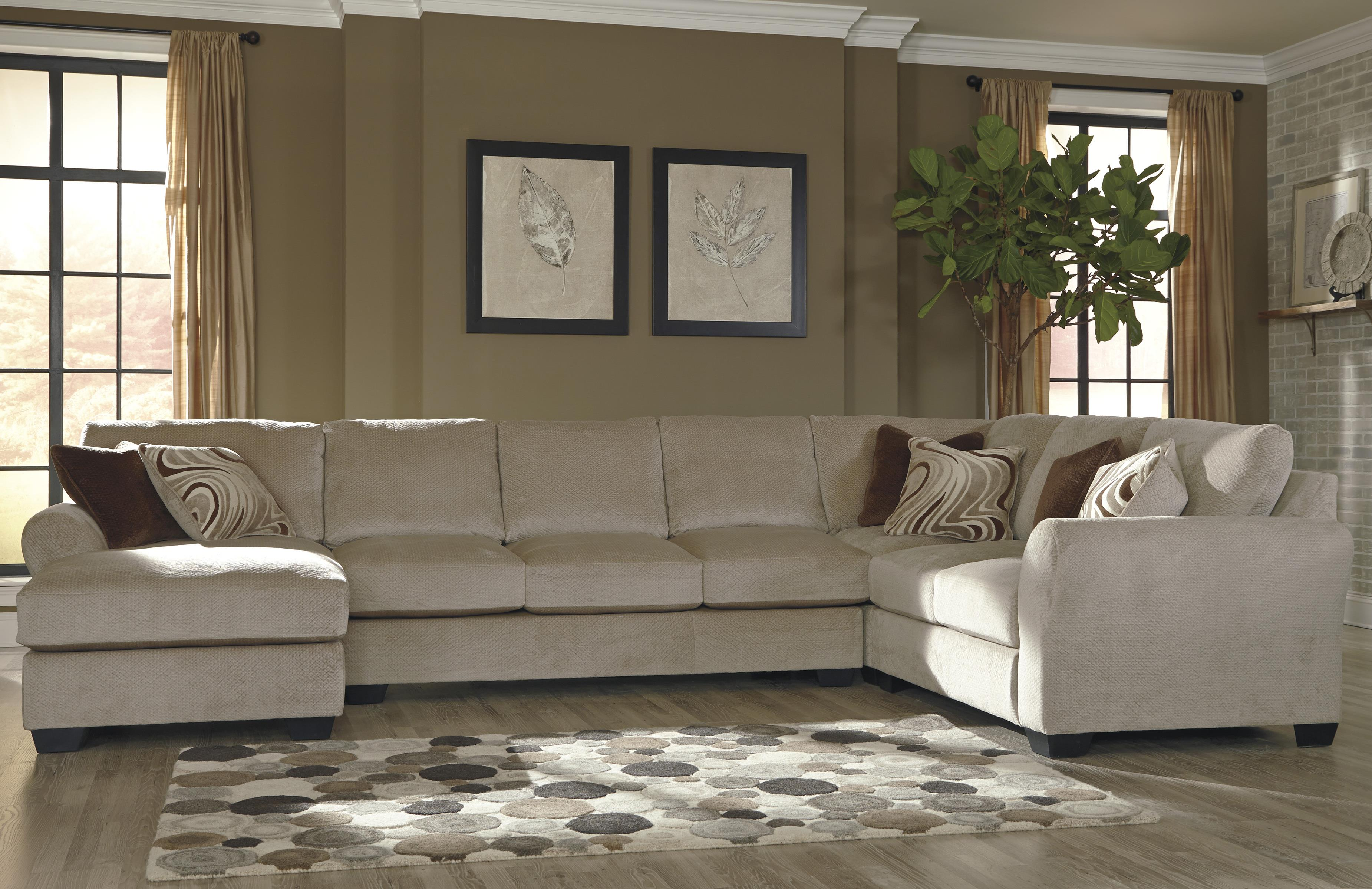 4 Piece Sectional w Armless Sofa & Left Chaise by Benchcraft