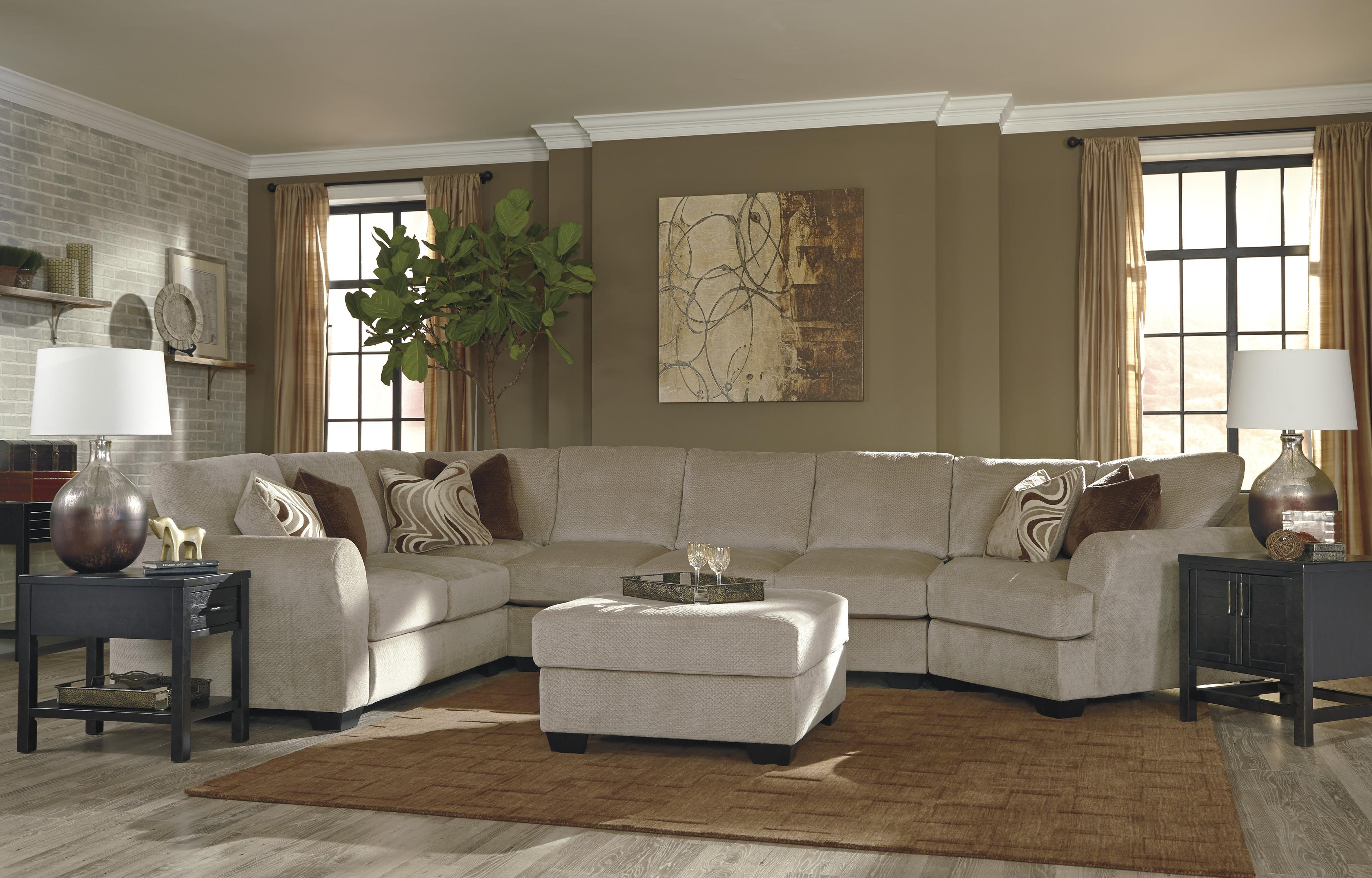 4 Piece Sectional w Armless Sofa & Right Cuddler by Benchcraft