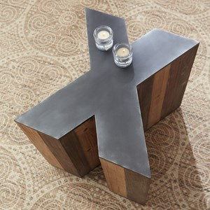 X-Shaped Accent Table