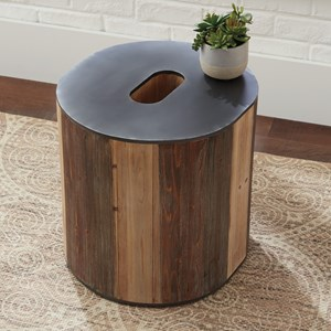 O-Shaped Accent Table