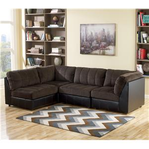Signature Design by Ashley Hobokin - Chocolate Contemporary 4 Piece Sectional