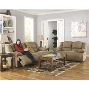 Signature Design by Ashley Furniture Hogan - Mocha Reclining Living Room Group