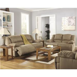 Ashley (Signature Design) Hogan - Mocha Reclining Living Room Group