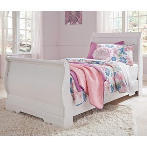 Twin Louis Philippe Sleigh Bed