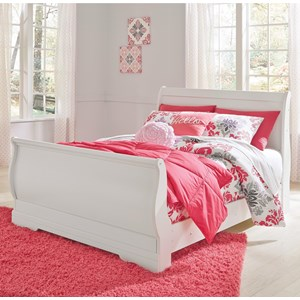 Full Louis Philippe Sleigh Bed