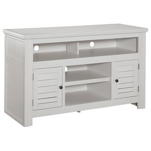 Painted Medium TV Stand with Louver Doors