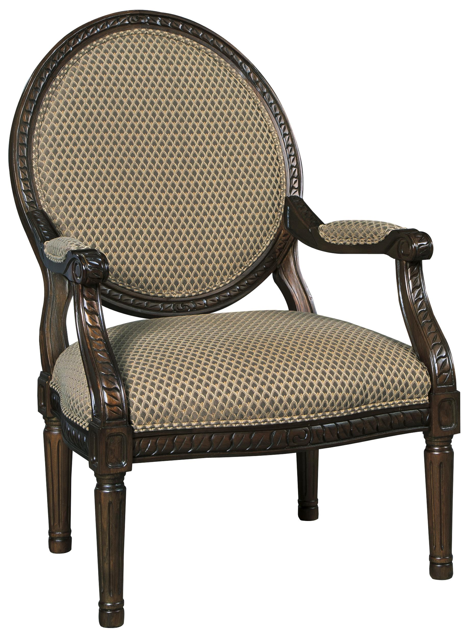 round back exposed wood frame accent chair - Wood Frame Accent Chairs