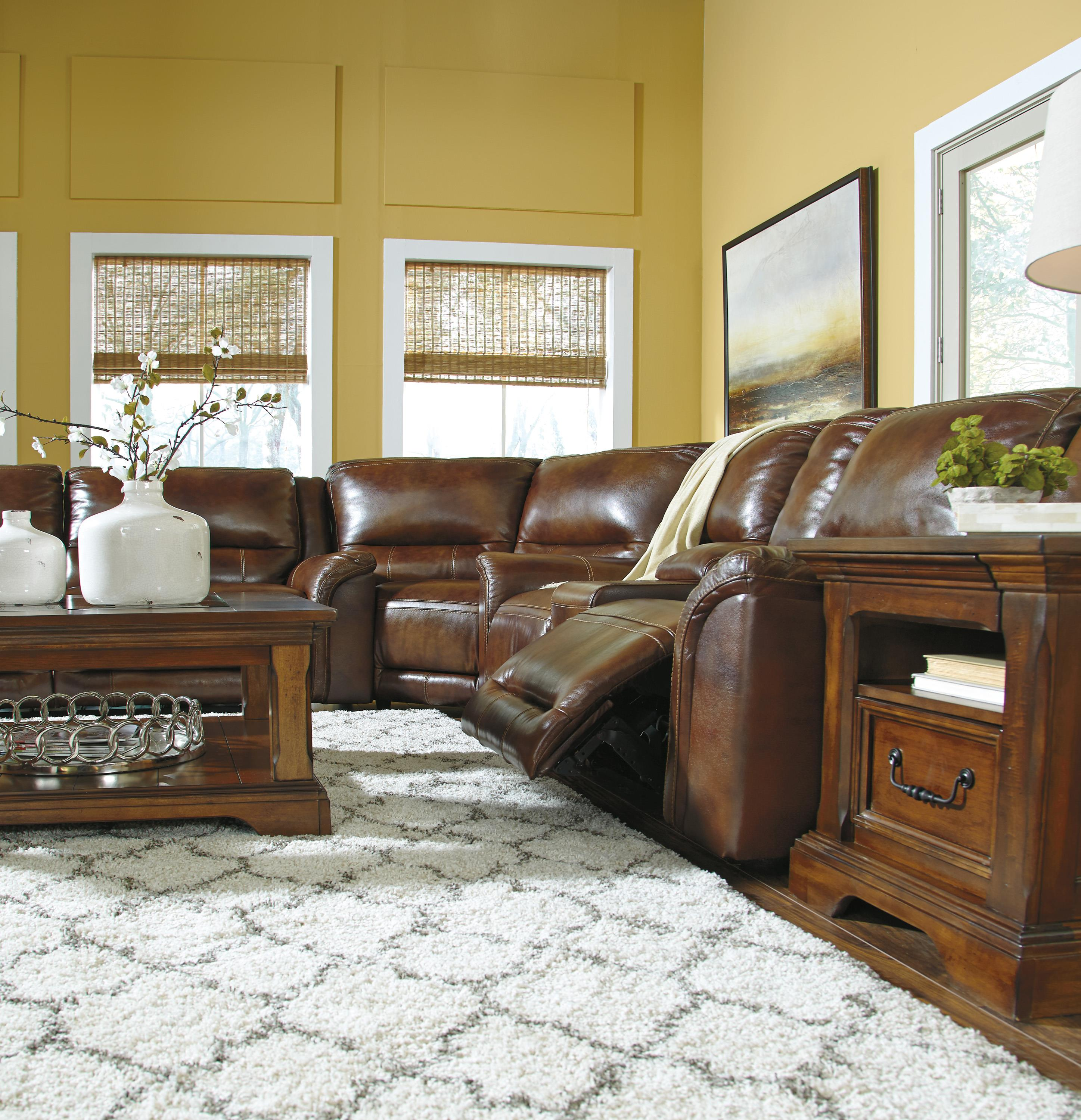 Reclining Sectional With Wedge