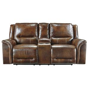 Signature Design by Ashley Jayron Double Reclining Loveseat w/ Console