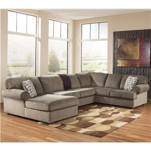 Casual Sectional Sofa with Left Chaise