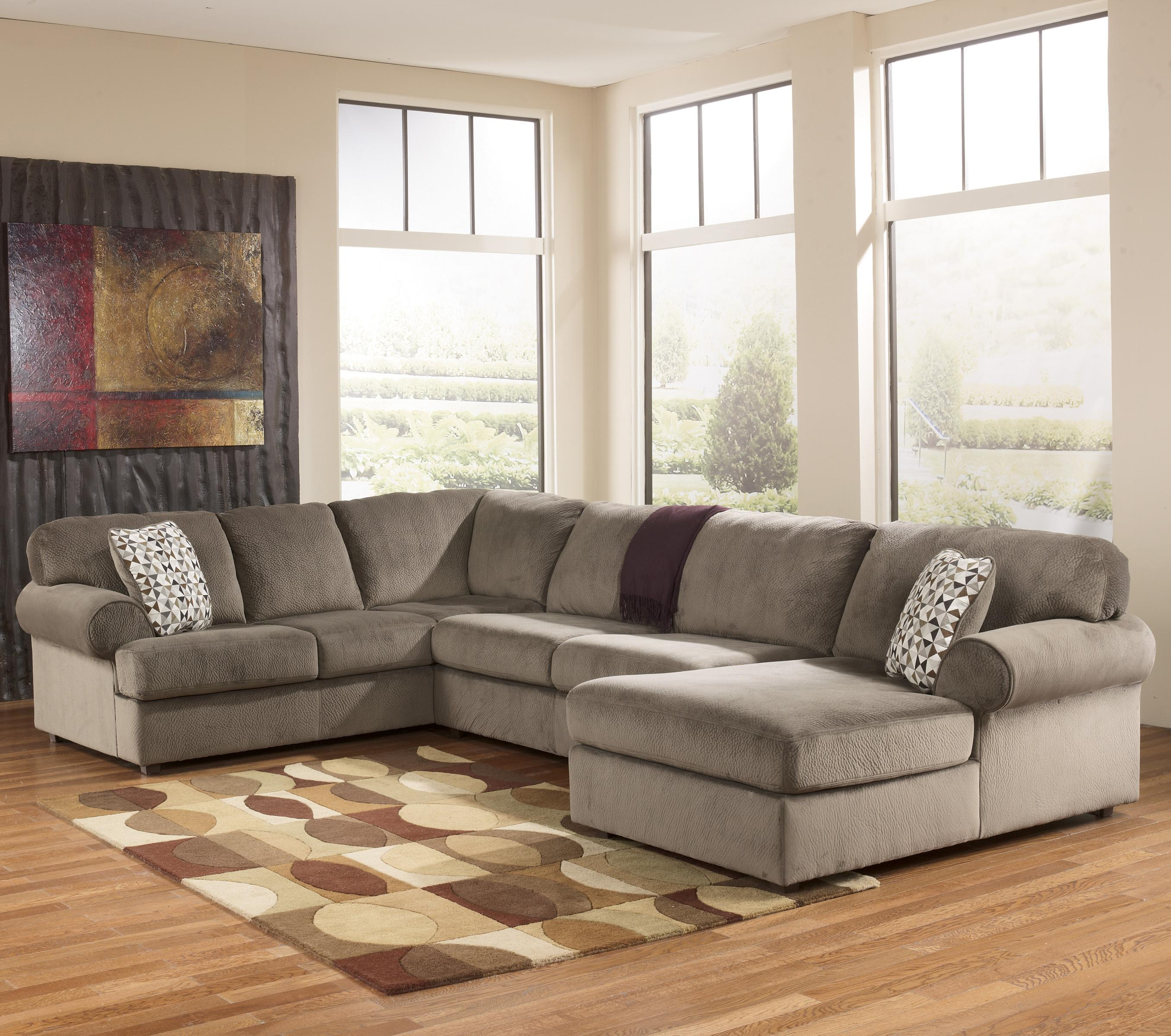 Ashley Furntiure: Casual Sectional Sofa With Right Chaise By Signature
