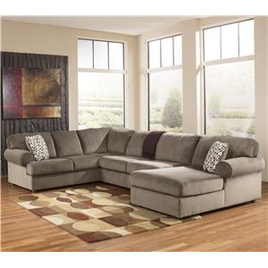 Signature Design by Ashley Jessa Place - Dune Sectional Sofa with Right Chaise