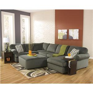 Signature Design by Ashley Furniture Jessa Place - Pewter Stationary Living Room Group