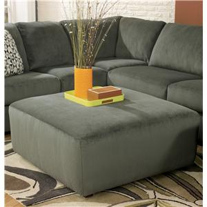 Signature Design by Ashley Furniture Jessa Place - Pewter Oversized Accent Ottoman
