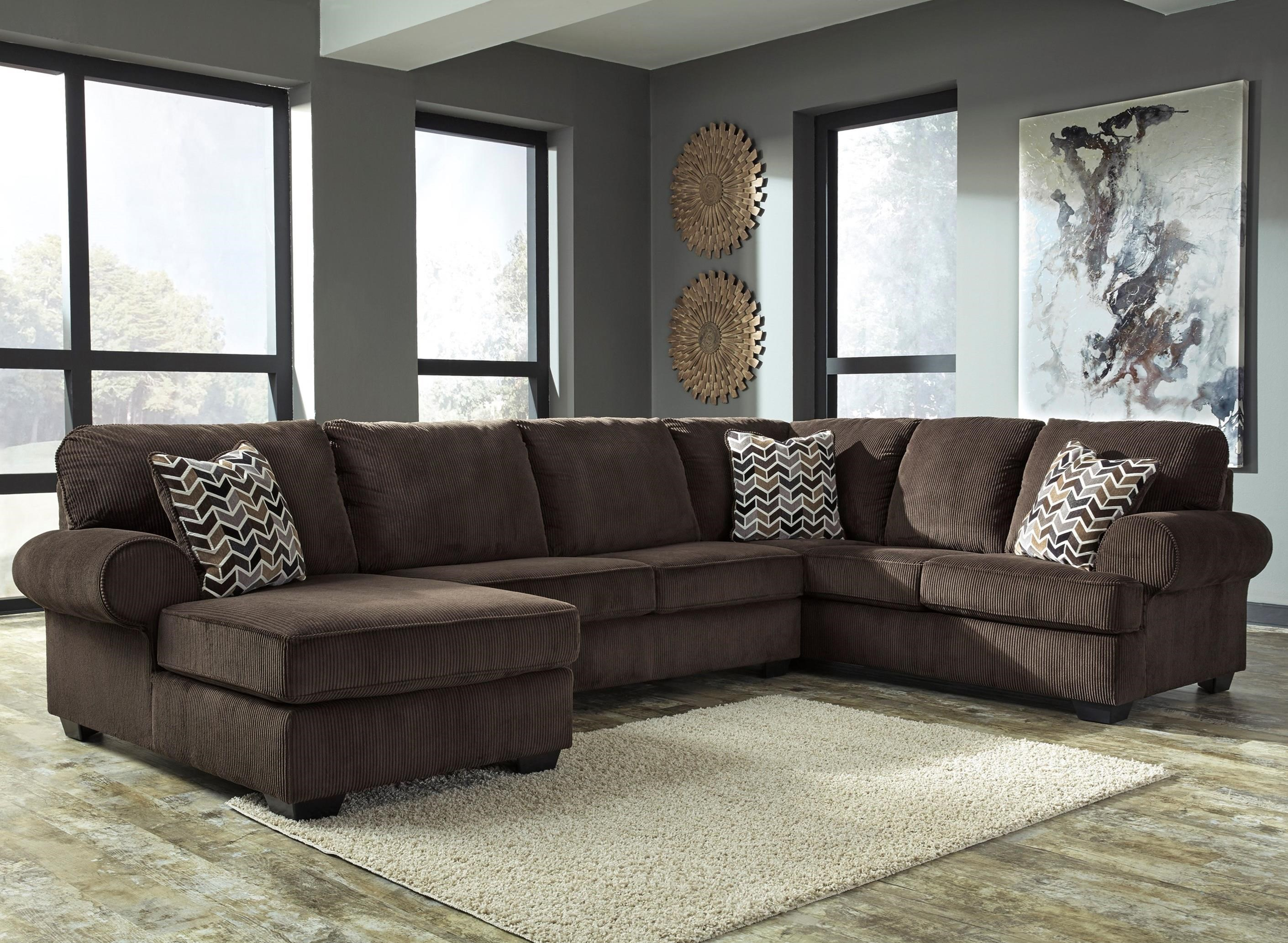 Contemporary 3 Piece Sectional With Left Chaise In