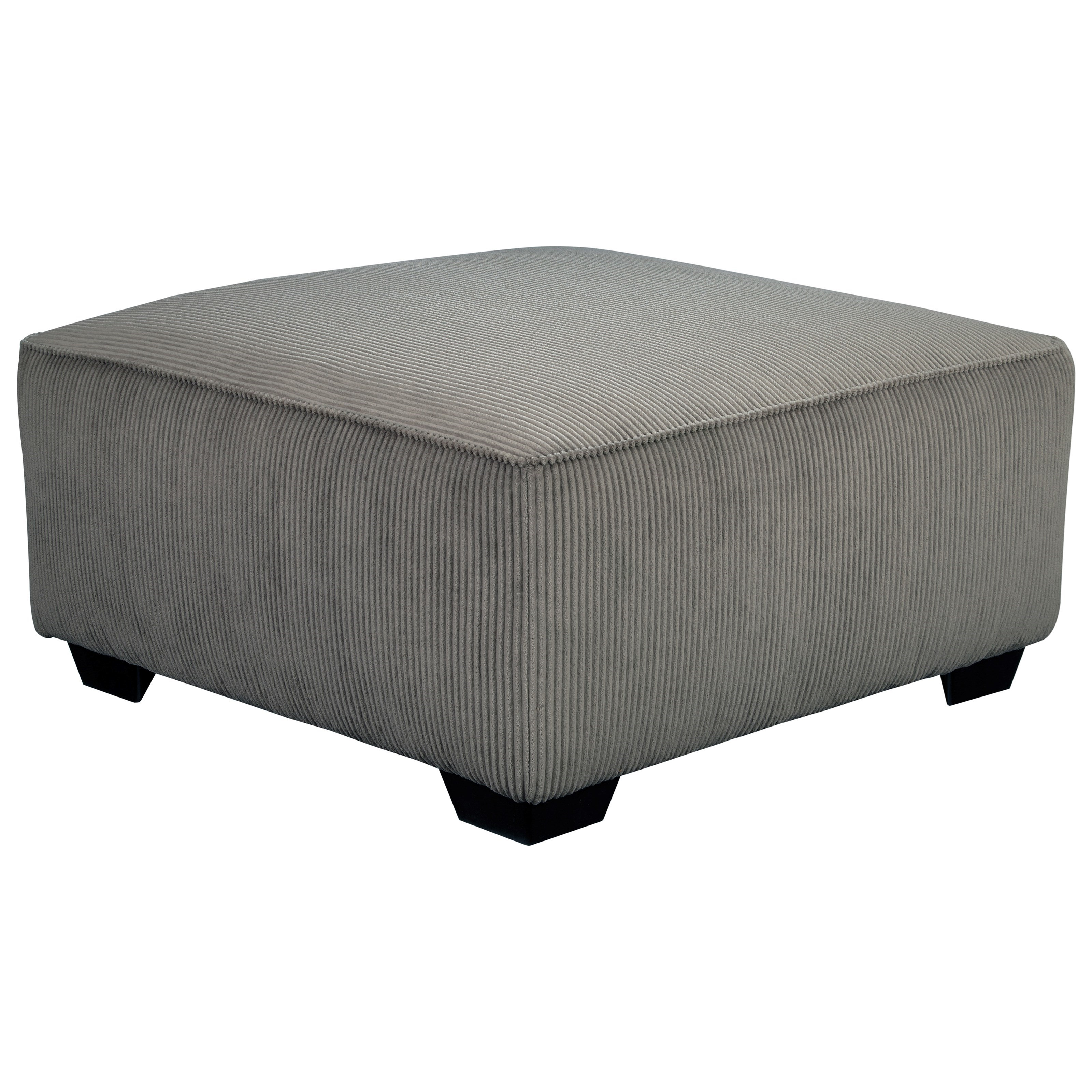 Contemporary oversized accent ottoman in corduroy fabric