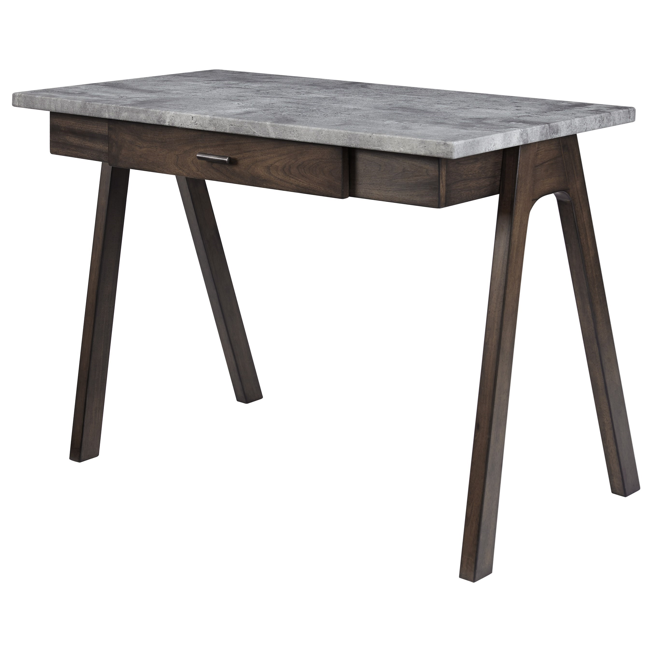 contemporary home office desk. Contemporary Home Office Desk With Faux Concrete Top