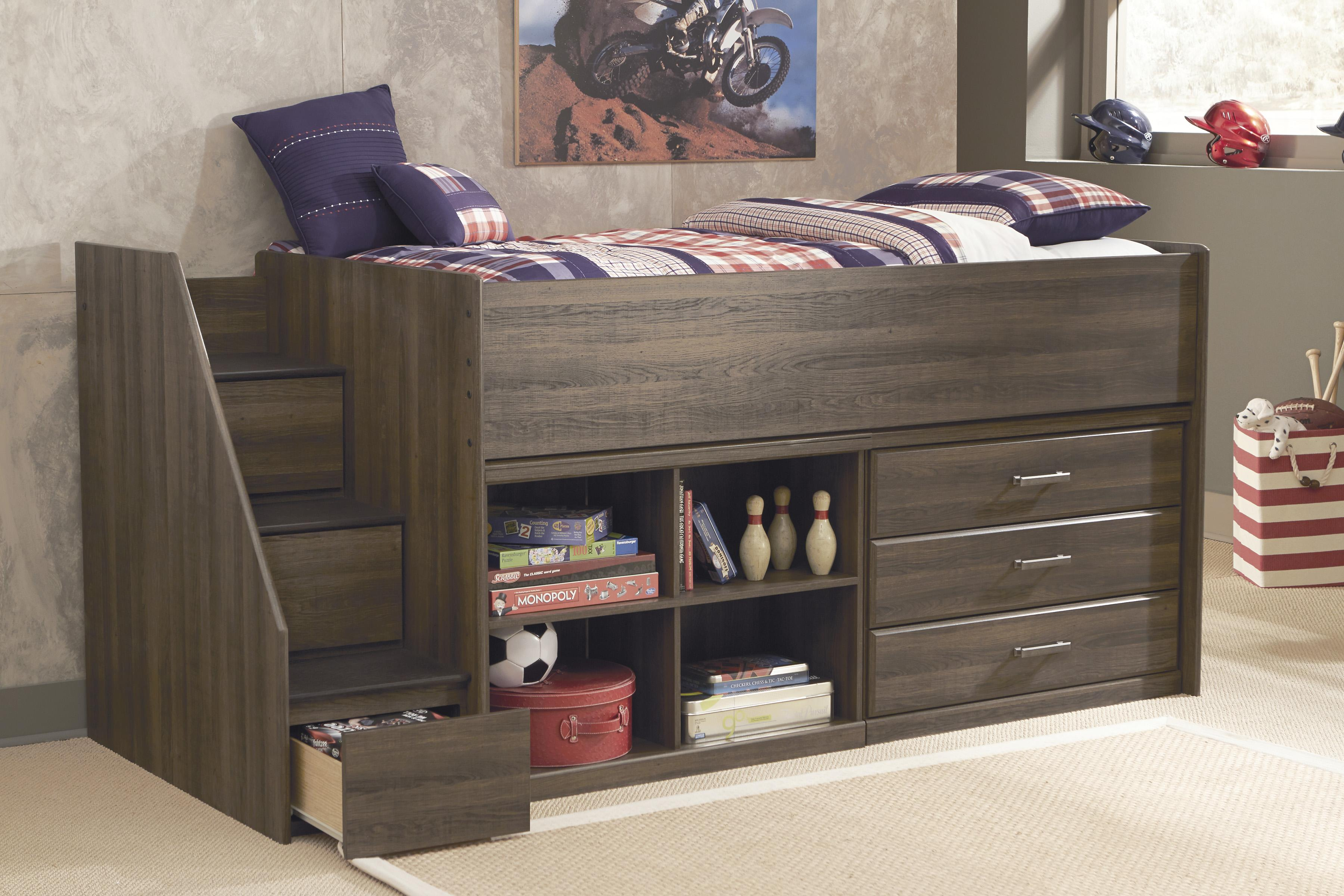 Twin Loft Bed With Left Storage Steps Bookcase  Chest By - Ashley furniture tampa