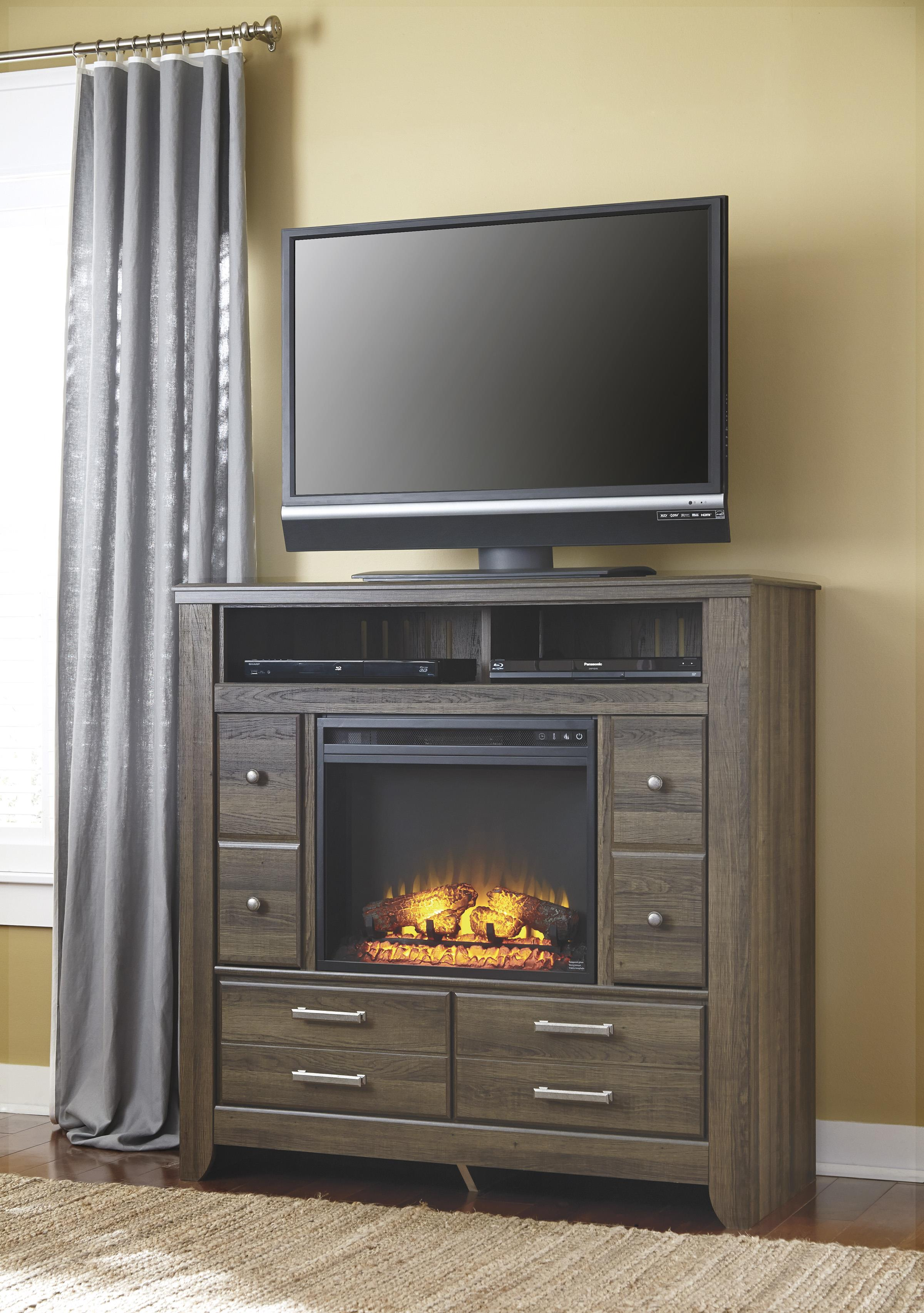 Media Chest with Electric Fireplace Insert by Signature Design by ...