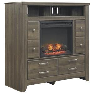 Signature Design by Ashley Furniture Juararo Media Chest with Electric Fireplace Insert