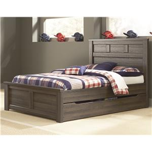 Transitional Full Panel Bed w/ Under Bed Storage