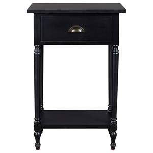 Tall Accent Table with 1 Drawer & 1 Shelf