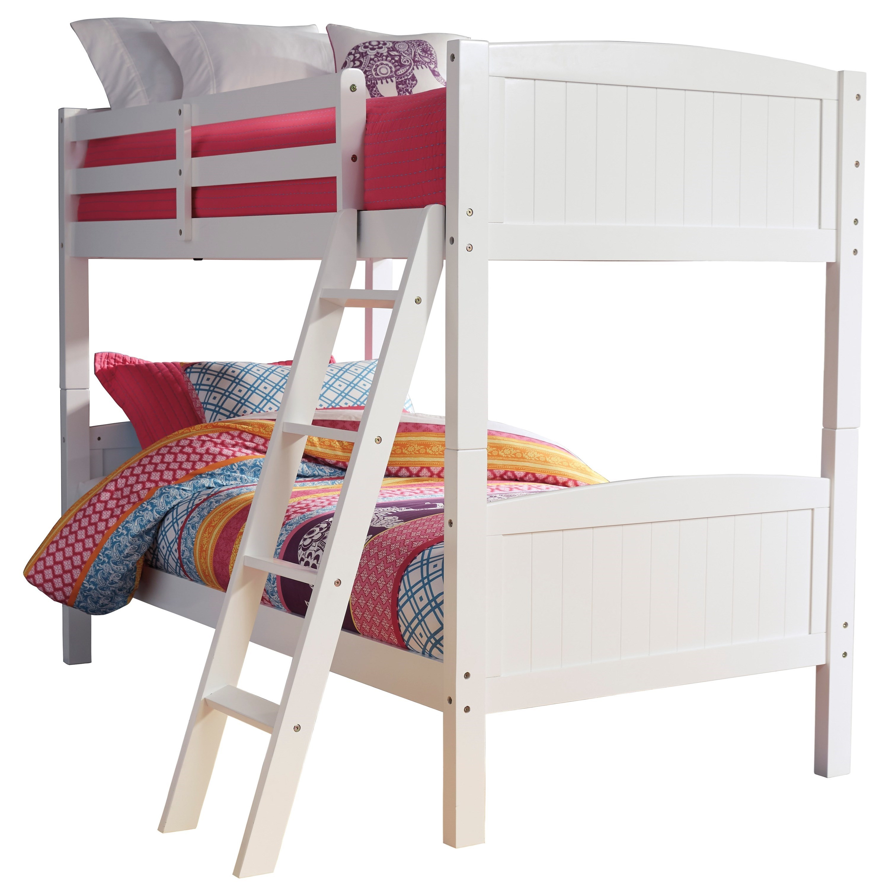 Twin/Twin Bunk Bed in White Finish