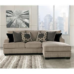 Signature Design by Ashley Furniture Katisha - Platinum 2-Piece Sectional with Right Chaise