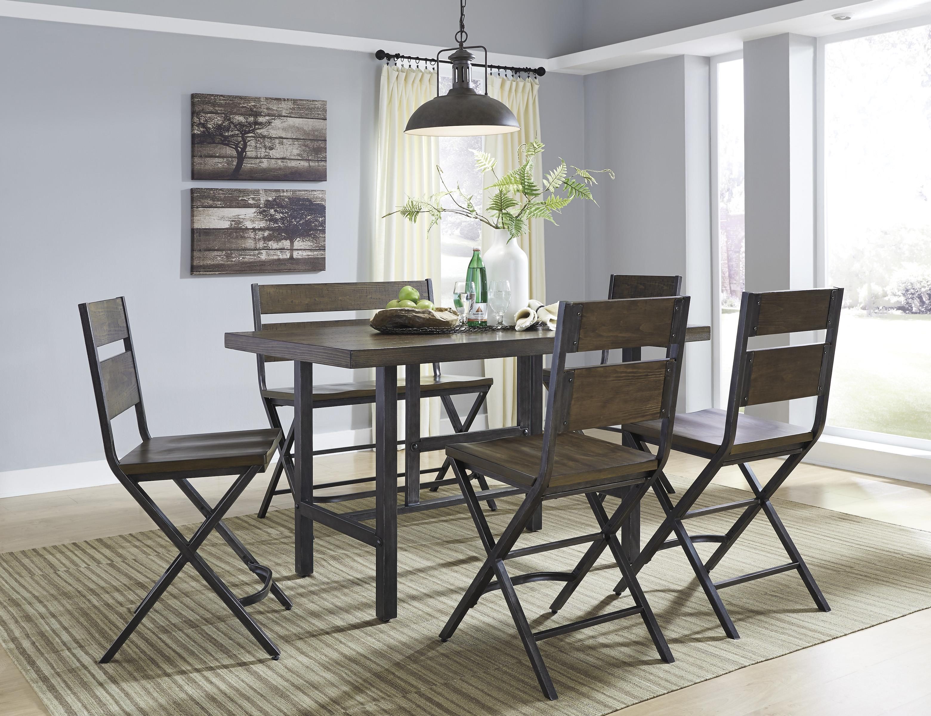 6 Piece Rectangular Dining Room Counter Table W Pine