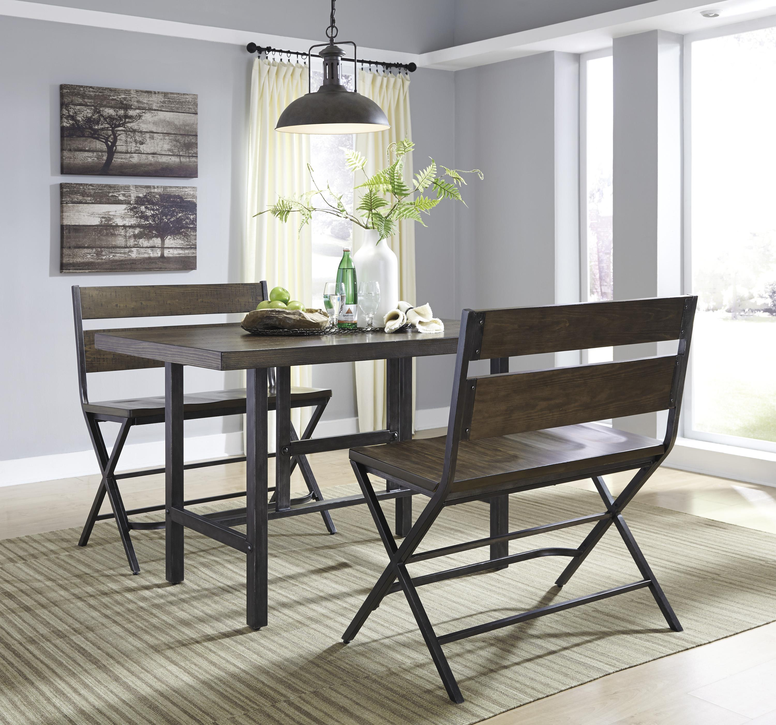 Rectangular Dining Room Tables: Rectangular Dining Room Counter Table W/ Pine Veneers And