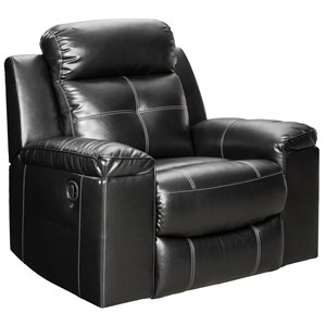 Contemporary High-Back Rocker Recliner with LED Lighting
